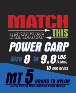 Maver Match This Hook To Nylon Power Carp Size 16 To 7lbs