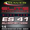 Maver Elite Es41 Silverfish Hook Size 24