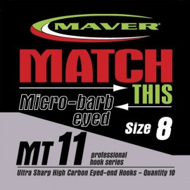 Maver Match This Micro-barb Eyed Mt11 Hooks Size 16