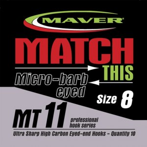 Maver Match This Micro-barb Eyed Mt11 Hooks Size 10
