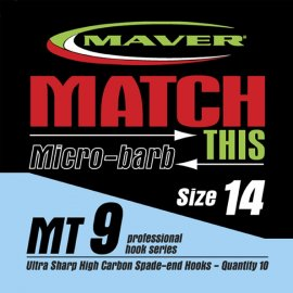 Maver Match This Micro-barb Mt9 Hooks Size 16