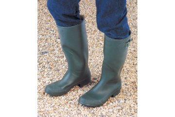 Wychwood Olive Green Rubber Boot Size 9