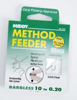Middy Barbless Method Feeder Carp Size 10 To 0.20