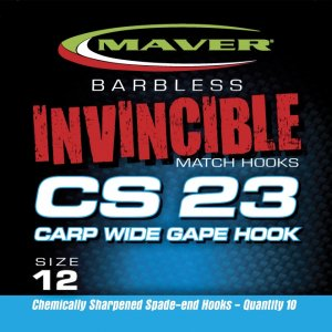 Maver Invincible Cs23 Carp Wide Gape Size 16