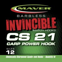Maver Invincible Cs21 Carp Power Hook Size 14