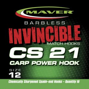 Maver Invincible Cs21 Carp Power Hook Size 12