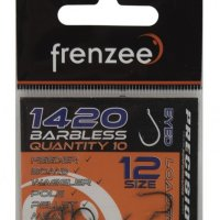 Frenzee 1420 Barbless Eyed Hooks Size 14
