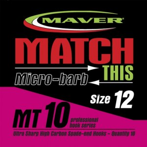 Maver Match This Micro-barb Mt10 Hooks Size 18