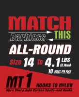 Maver Match This Hook To Nylon All Round Size 14 To 4.1 Lb