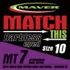 Maver Match This Mt7 Barbless Eyed Hooks Size 18