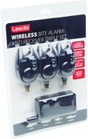 Leeda Blue Led Bite Alarm Triple Pack with Receiver