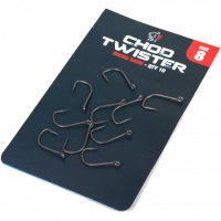 Nash Chod Twisters Hooks Size 6 Barbless