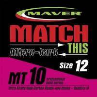 Maver Match This Micro-barb Mt10 Hooks Size 20
