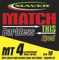 Maver Match This Barbless Mt4 Hook Size 10