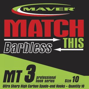 Maver Match This Barbless Mt3 Hook Size 18