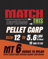 Maver Match This Hook To Nylon Pellet Carp Size 12 To 5.6lbs