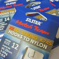 Silstar Match Team XXtra Strong K74S Hooks to Nylon
