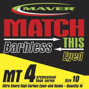 Maver Match This Barbless Mt4 Hook Size 16