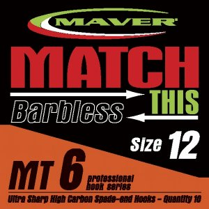 Maver Match This Barbless Mt6 Hooks Size 20