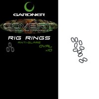 Gardner Covert Rig Rings Large Oval Anti Glare (6 Mm)