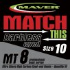 Maver Match This Mt8 Barbless Eyed Hooks Size 14