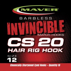 Maver Invincible Match Hooks Cs20 - Hair Rig Hook Size 16