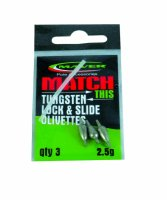 Match This Lock & Slide Tungsten Olivettes 0.6g