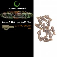 Gardner Covert Lead Clips C-thru Brown