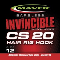 Maver Invincible Match Hooks Cs20 - Hair Rig Hook Size 14