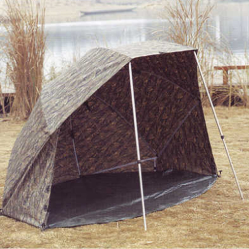 60 Inch Deluxe Camo Brolly Day Shelter With Storm Sides