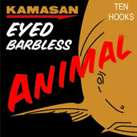 Kamasan Animal Eyed Barbless Size 10 Hooks